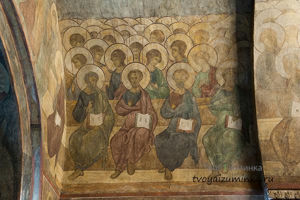 Фрески рублева Успенский собор во Владимире.