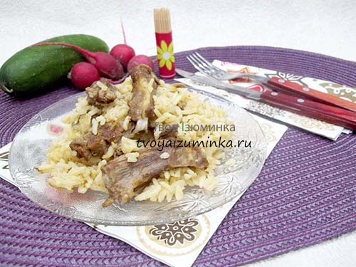 Бараньи ребрышки на сковороде: как приготовить с рисом