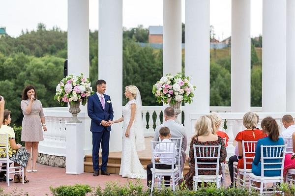 летний комплекс для празднования свадьбы