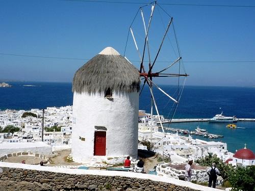Мельницы в Греции.