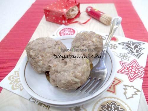 Рецепт диетических котлет из говядины на пару с манкой